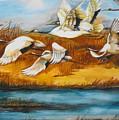 Marsh Flight by Min Wang