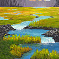 Marsh River Original Painting by Nathan Lucero