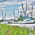 Marsh View Shrimp Boats by Scott Hansen