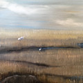 Marsh With Egrets by Holly Whiting