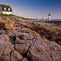 Marshal Point Light Sunset by Susan Cole Kelly