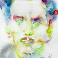 Marshall Mcluhan - Watercolor Portrait by Fabrizio Cassetta