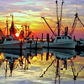 Marshallberg Harbor Sunset by Benanne Stiens