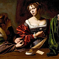Martha And Mary Magdalen by Caravaggio
