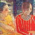 marthe in red blouse c1928 Pierre Bonnard by Eloisa Mannion
