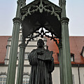 Martin Luther In Market Square by Jost Houk