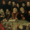 Martin Luther In The Circle Of Reformers by German School