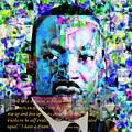 Martin Luther King Jr In Abstract Cubism 20170401 Text by Wingsdomain Art and Photography