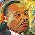 Martin Luther King Portrait 1 by Yury Malkov