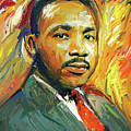 Martin Luther King Portrait 2 by Yury Malkov