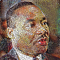 Martin Luther King Portrait Mosaic 1 by Yury Malkov
