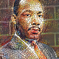 Martin Luther King Portrait Mosaic 2 by Yury Malkov