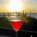 Martini At Sunset II by Lilliana Mendez
