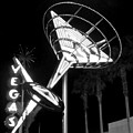 Martini Sign In Vegas B-w by Anita Burgermeister