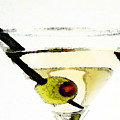 Martini With Green Olive by Sharon Cummings