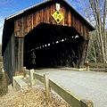 Martinsville Covered Bridge- Hartland Vermont Usa by Erin Paul Donovan