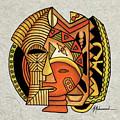 Maruvian Masks 1 by Marcella Muhammad