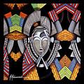 Maruvian Silver Mask by Marcella Muhammad