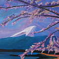 Marvellous Mount Fuji With Cherry Blossom In Japan by M Bleichner