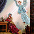Mary And Angel by John Lautermilch