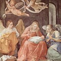 Mary And Angels 1611 by Reni Guido