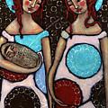 Mary And Elizabeth by Julie-ann Bowden