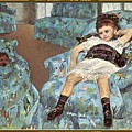 Mary Cassatt-little Girl In A Blue Armchair1878 Po Amp 059 Mary Cassatt by Eloisa Mannion
