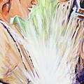 Mary Visits Elizabeth by Steve Gamba
