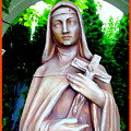 Mary With Cross by Ed Weidman