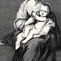 Mary With The Child Jesus by German School