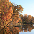Maryland Autumns - Clopper Lake - Kingfisher Overlook by Ronald Reid