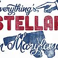 Maryland Poster - Funny Stellar by Flo Karp