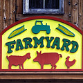 Maryland Zoo In Baltimore Farmyard Sign by Bill Swartwout Fine Art Photography