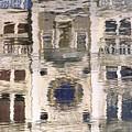 Marzaria Clocktower Reflection by David Halperin