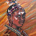 Magnetizing  Masaai  Girl.           From The Attitude Girls  by Sigrid Tune