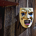 Mask On Barn Door by Garry Gay