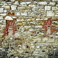 masonry Locked windows on the stone wall by Jozef Jankola