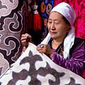 Master Of Kyrgyz National Carpet - Shyrdak  by Marat Jolon