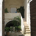Matera, Italian Courtyard by Italian Art