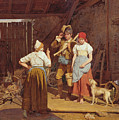 Maternal Admonition by Ferdinand Georg Waldmueller