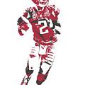 Matt Ryan Atlanta Falcons Pixel Art 6 by Joe Hamilton