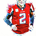 Matt Ryan Qb Atlanta Falcons Digital Painting by David Haskett II