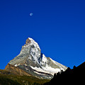 Matterhorn Under Moon by Chlaus Loetscher
