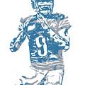 Matthew Stafford Detroit Lions Pixel Art 5 by Joe Hamilton
