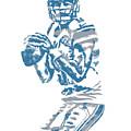 Matthew Stafford Detroit Lions Pixel Art 6 by Joe Hamilton