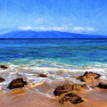Maui Beach And View Of Lanai by Dominic Piperata