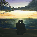 Maui Beach Sunset by Norm Starks