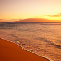 Maui, Hazy Orange Sunset by Dana Edmunds - Printscapes