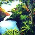 Maui Seven Sacred Falls #184 by Donald k Hall