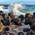 Maui Wave Crash by Eddie Yerkish